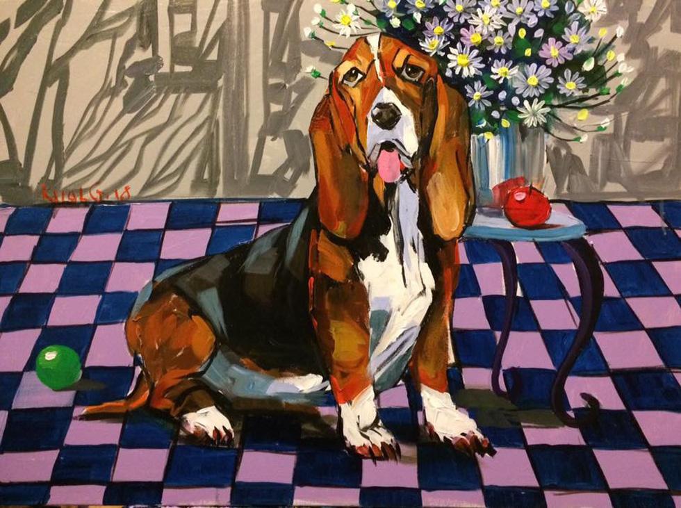 Họa sĩ Việt tung tranh vẽ chó đón năm Mậu Tuất  - Ảnh 6.