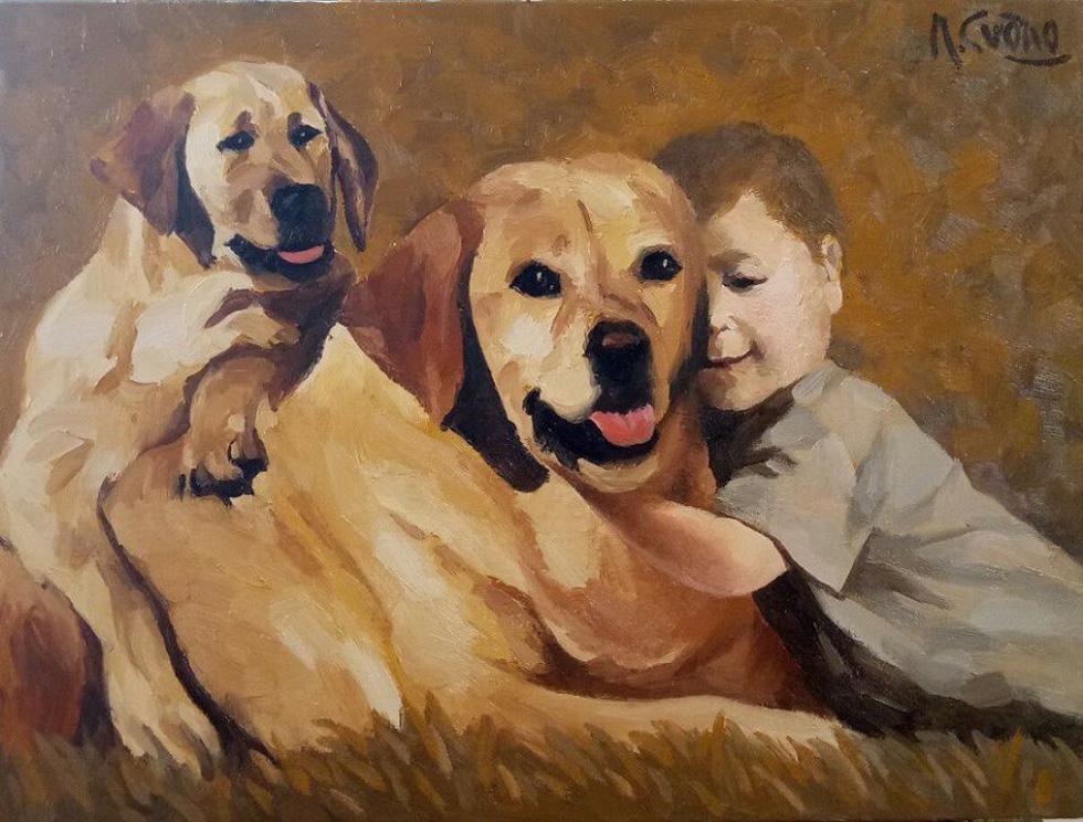 Họa sĩ Việt tung tranh vẽ chó đón năm Mậu Tuất  - Ảnh 3.