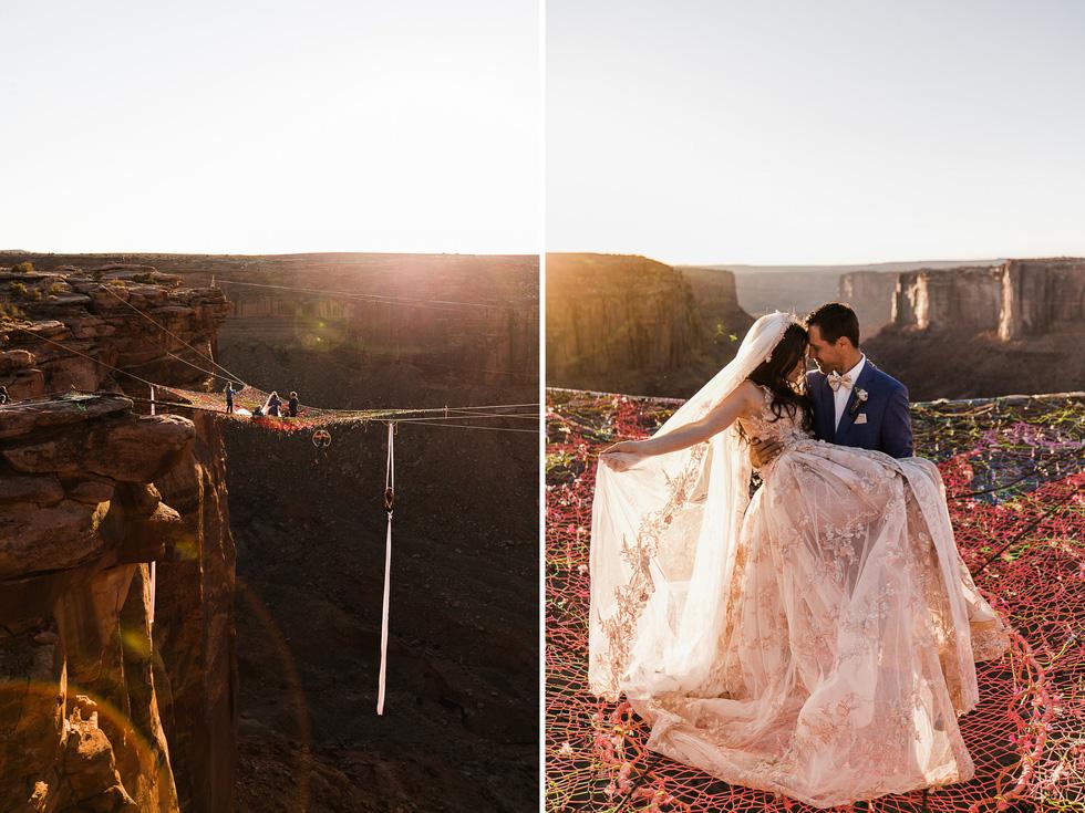 Chú rể trao nhẫn cưới cho cô dâu giữa vực sâu - Ảnh 2.
