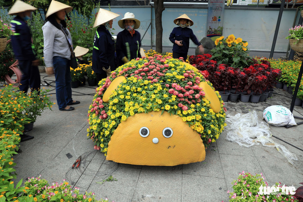 Chó Phú Quốc nổi bật ở đường hoa Nguyễn Huệ - Ảnh 10.