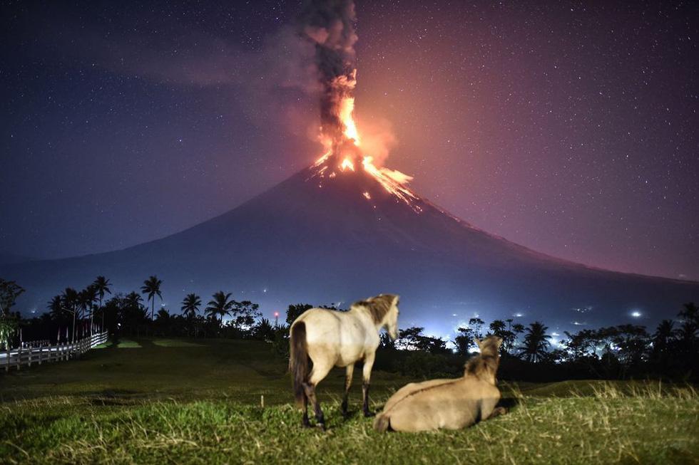 Hoa mắt với hồ nở hoa, núi lửa phun... như phim - Ảnh 1.