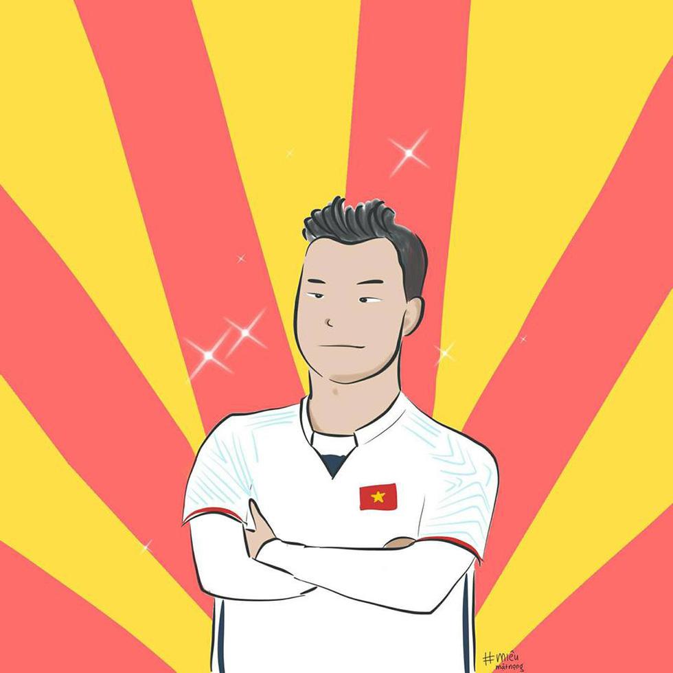 Loạt hình vẽ đáng yêu về hành trình đáng nhớ của U23 Việt Nam - Ảnh 27.