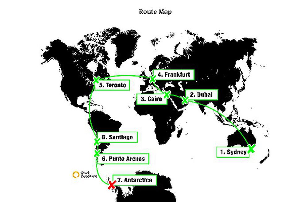 Tình nhân quen nhau qua Facebook vòng quanh 7 lục địa trong 100 giờ - Ảnh 1.