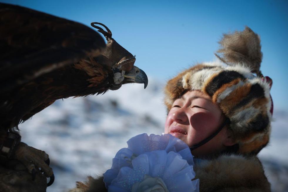 Lễ hội huấn luyện đại bàng ở Mông Cổ - Ảnh 4.