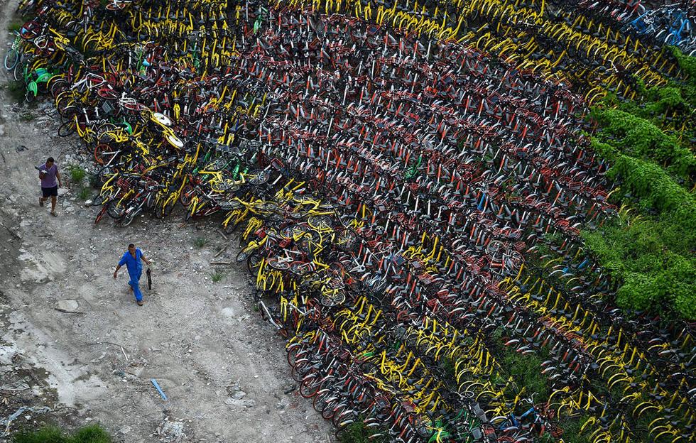 Những núi xe đạp bị vứt bỏ ở Trung Quốc - Ảnh 6.