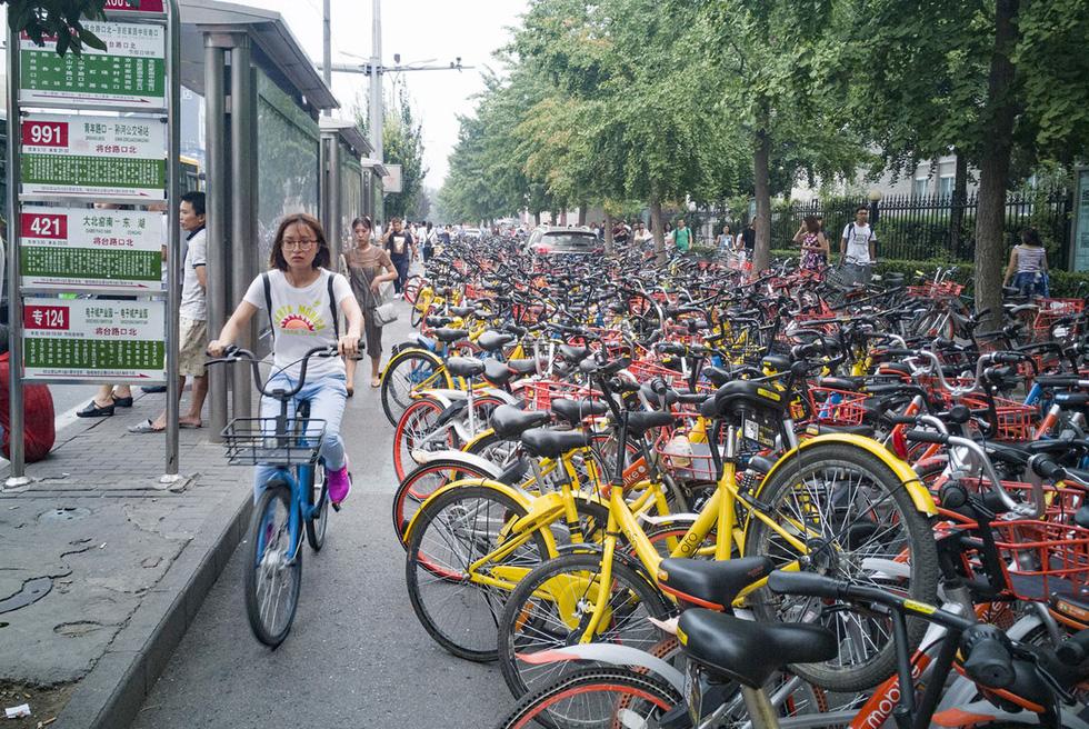 Những núi xe đạp bị vứt bỏ ở Trung Quốc - Ảnh 8.