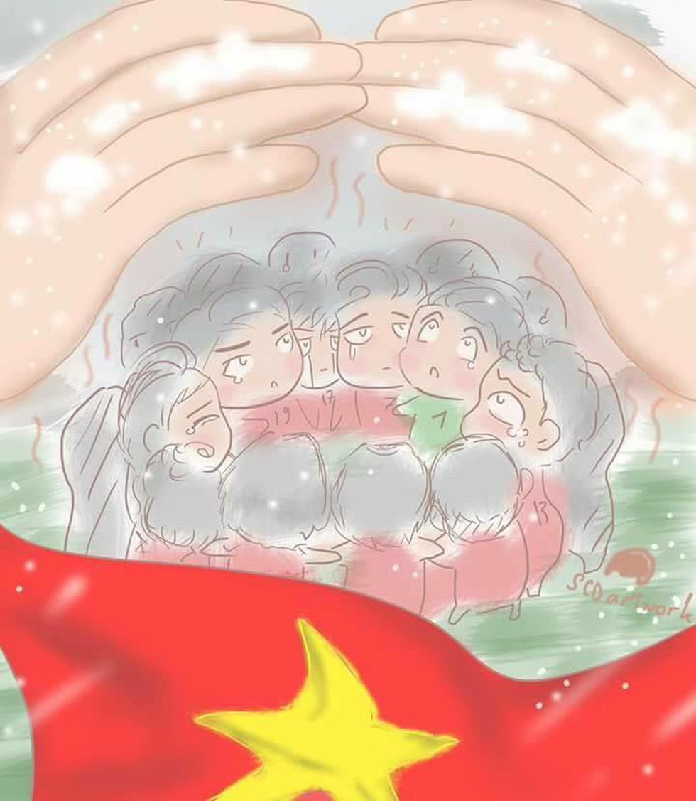 Loạt hình vẽ đáng yêu về hành trình đáng nhớ của U23 Việt Nam - Ảnh 14.