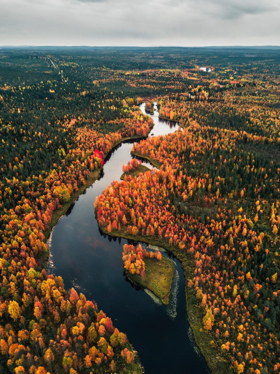 Đảo 'bốn mùa' Phần Lan đẹp mê hồn nhìn từ trên cao - Ảnh 11.