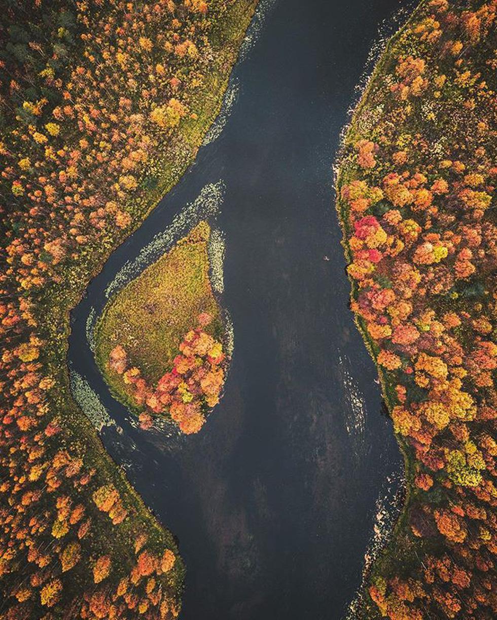 Đảo 'bốn mùa' Phần Lan đẹp mê hồn nhìn từ trên cao - Ảnh 13.