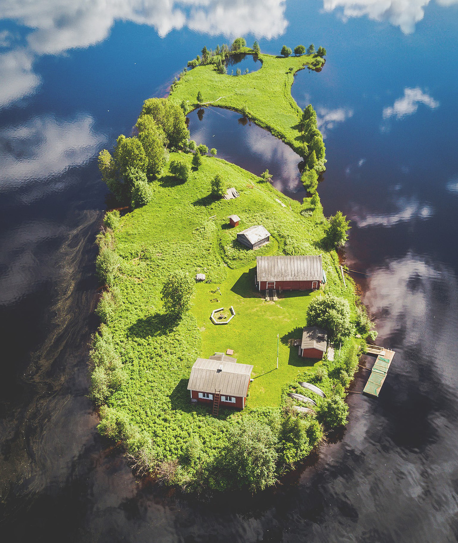 Đảo 'bốn mùa' Phần Lan đẹp mê hồn nhìn từ trên cao - Ảnh 2.