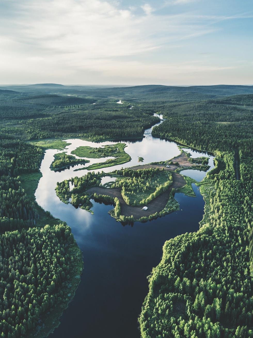 Đảo 'bốn mùa' Phần Lan đẹp mê hồn nhìn từ trên cao - Ảnh 7.
