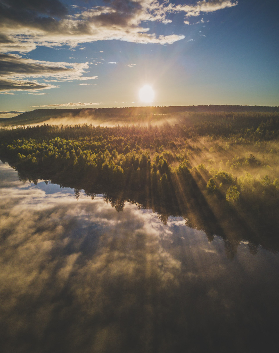 Đảo 'bốn mùa' Phần Lan đẹp mê hồn nhìn từ trên cao - Ảnh 9.