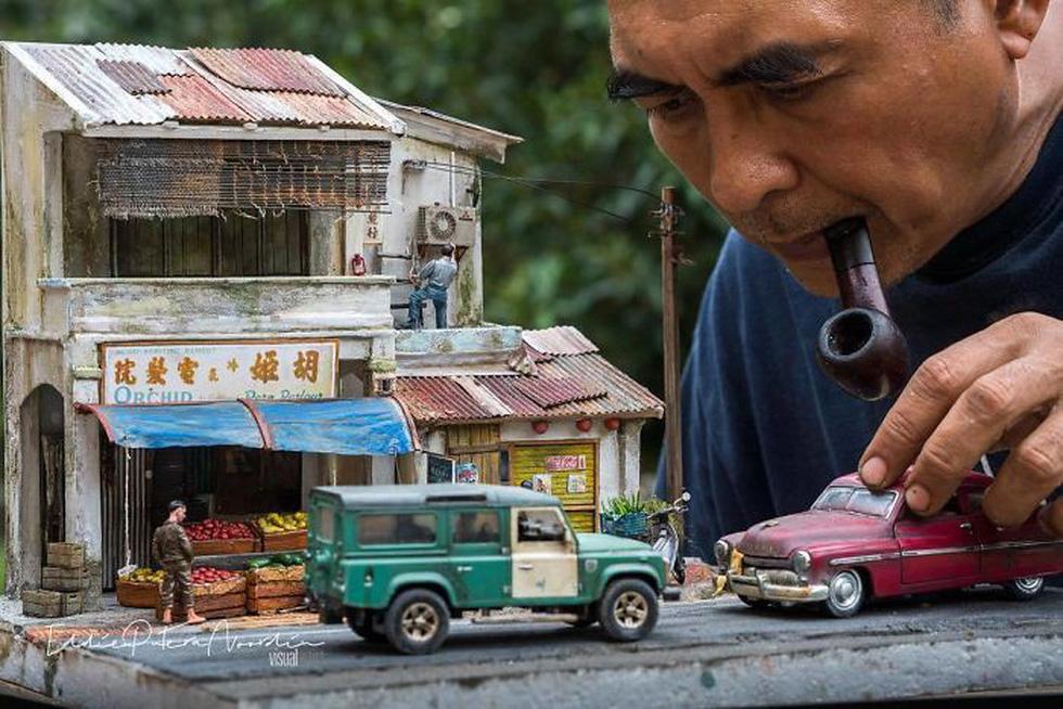 Đi ngược thời gian bằng mô hình siêu nhỏ của nghệ nhân Malaysia - Ảnh 1.
