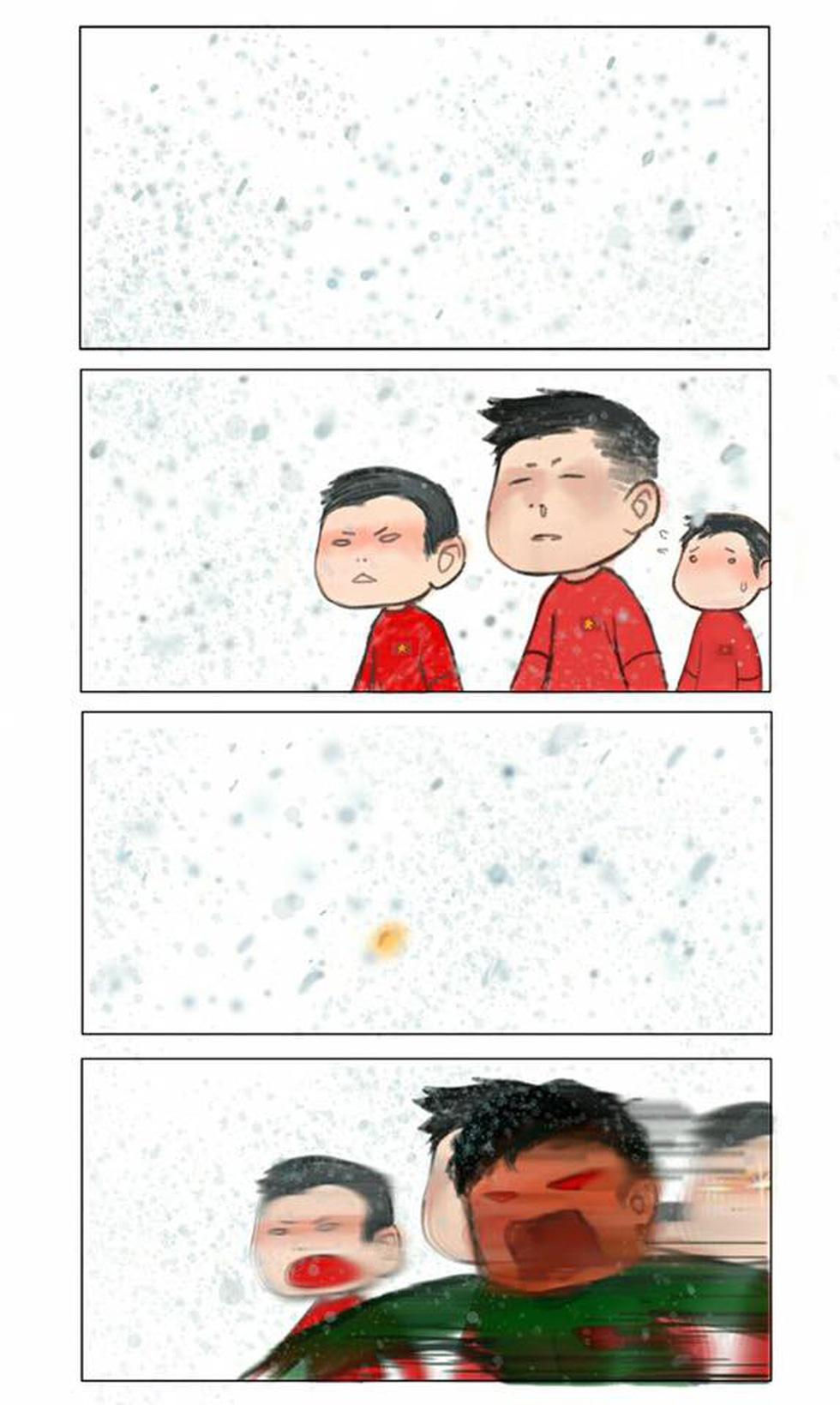 Loạt hình vẽ đáng yêu về hành trình đáng nhớ của U23 Việt Nam - Ảnh 4.