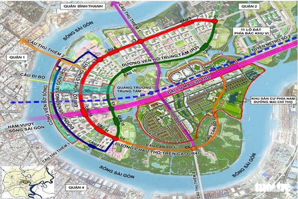 Cận cảnh 4 tuyến đường giá khủng 12.000 tỉ ở Thủ Thiêm - Ảnh 2.