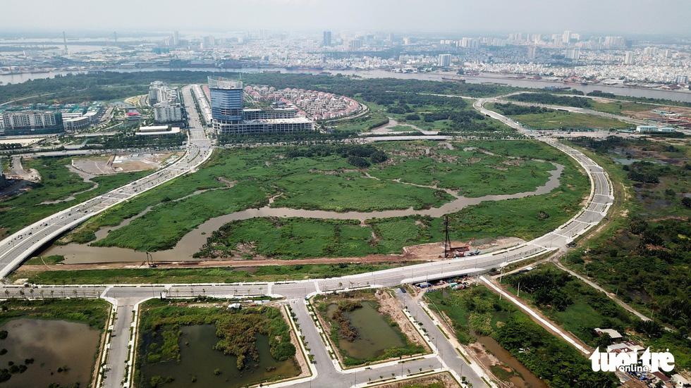 Cận cảnh 4 tuyến đường giá khủng 12.000 tỉ ở Thủ Thiêm - Ảnh 4.