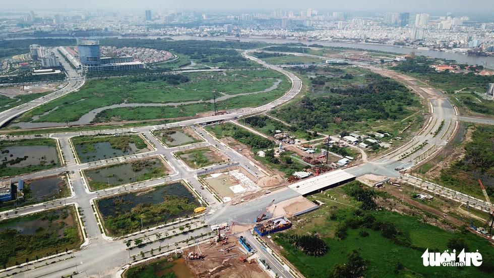 Cận cảnh 4 tuyến đường giá khủng 12.000 tỉ ở Thủ Thiêm - Ảnh 5.