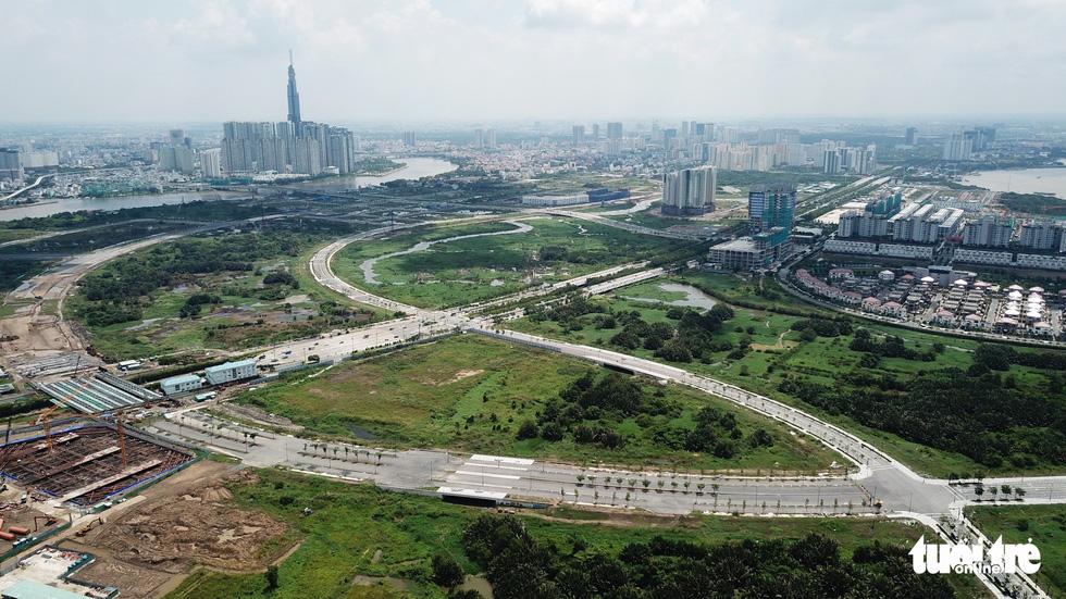 Cận cảnh 4 tuyến đường giá khủng 12.000 tỉ ở Thủ Thiêm - Ảnh 13.