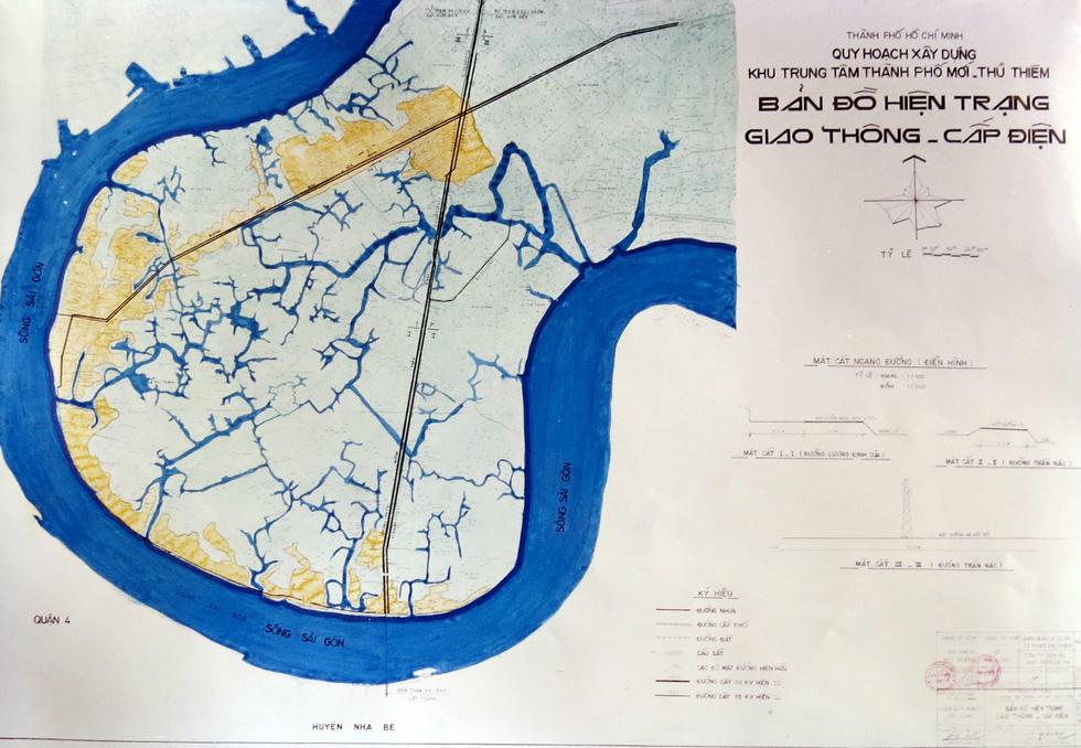TP.HCM mượn bộ bản đồ Thủ Thiêm của cựu chủ tịch Võ Viết Thanh - Ảnh 5.