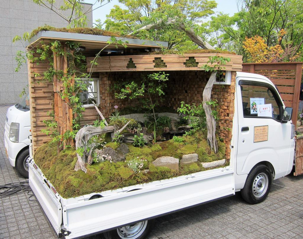 Thiếu đất, người Nhật thi nhau làm vườn trên xe tải - Ảnh 7.