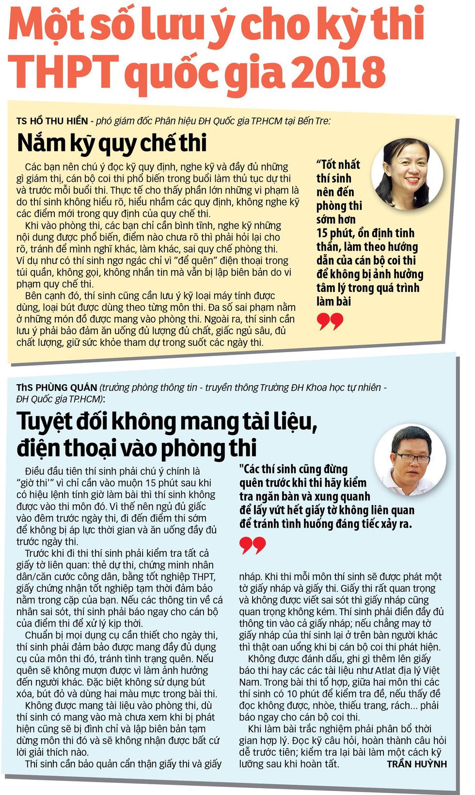 Cẩm nang bỏ túi cho thí sinh thi THPT quốc gia 2018 - Ảnh 2.