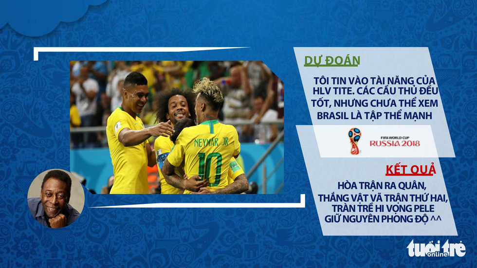 Thắng hú vía trận thứ 2, Brazil mong Pele giữ phong độ... đoán trật lất - Ảnh 8.
