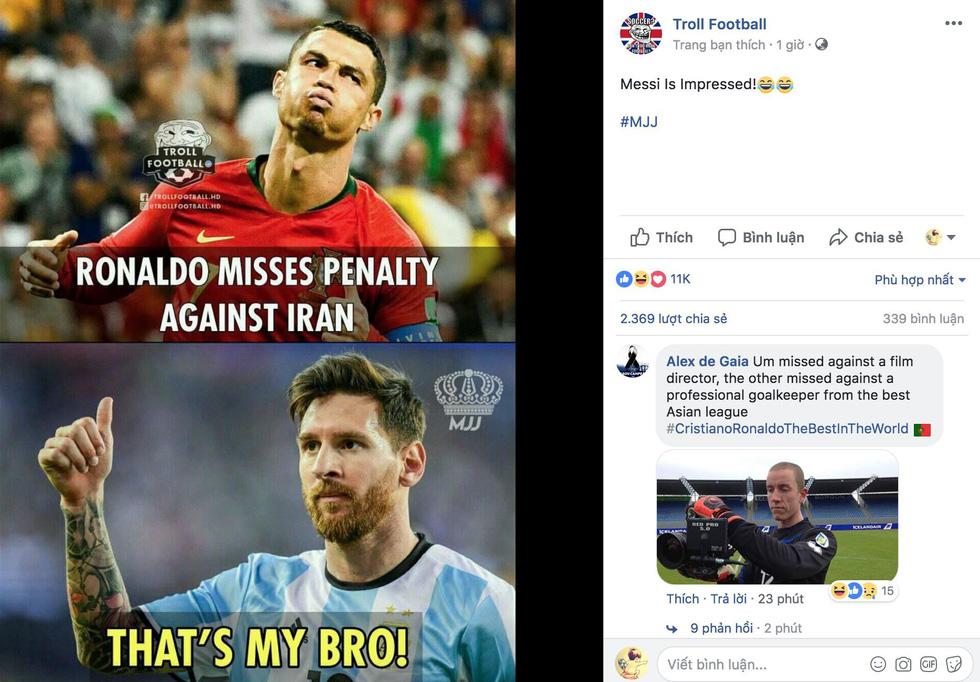 Ronaldo xấu xí, dân mạng... chúc mừng Messi - Ảnh 4.