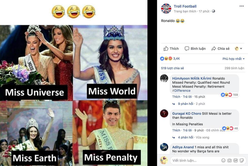 Ronaldo xấu xí, dân mạng... chúc mừng Messi - Ảnh 5.