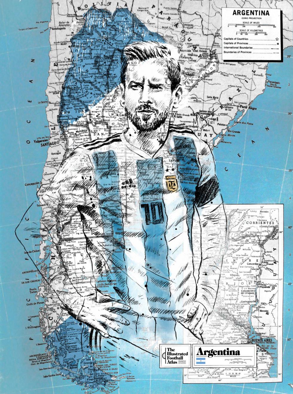 Tình yêu bóng đá và bản đồ độc lạ của fan ruột World Cup - Ảnh 4.