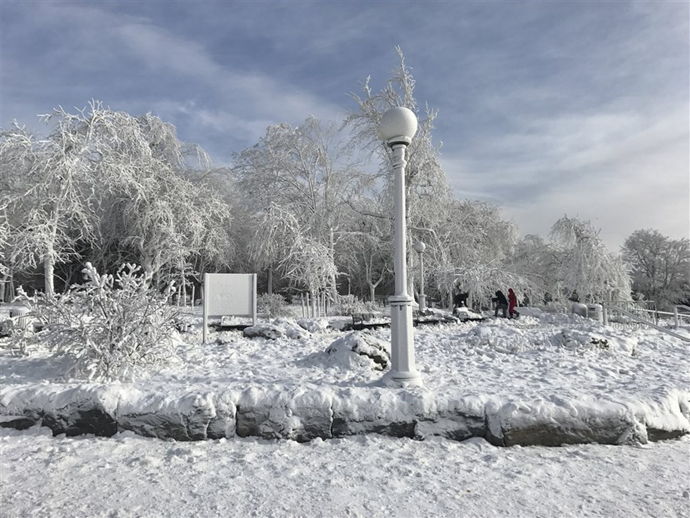 Du khách ngắm thác Niagara trong băng giá - Ảnh 8.