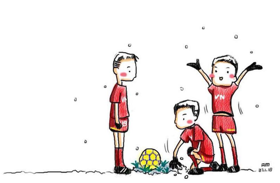 Loạt hình vẽ đáng yêu về hành trình đáng nhớ của U23 Việt Nam - Ảnh 7.