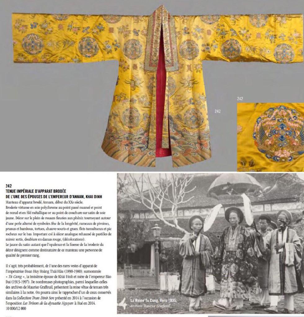 Chiếc áo của đức Từ Cung - mẹ vua Bảo Đại - từ Pháp trở về - Ảnh 1.