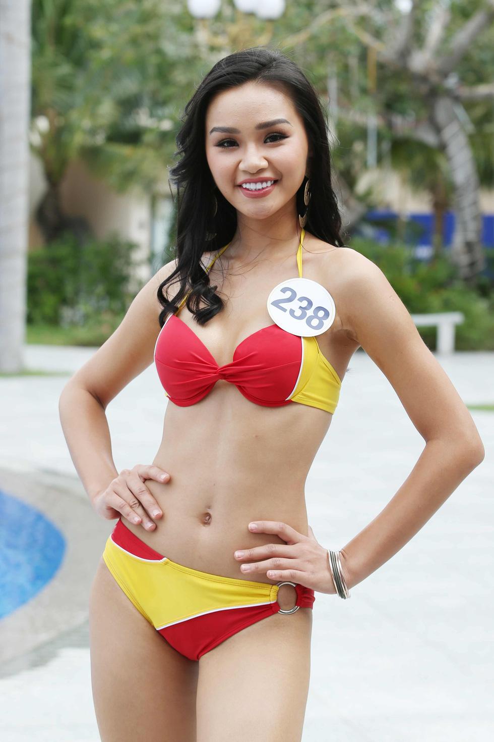 Thí sinh Hoa hậu Hoàn vũ VN trình diễn bikini nóng bỏng - Ảnh 6.