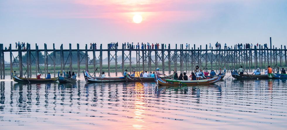 Đi Mandalay ngắm hoàng hôn ở cầu U Bein - Ảnh 11.