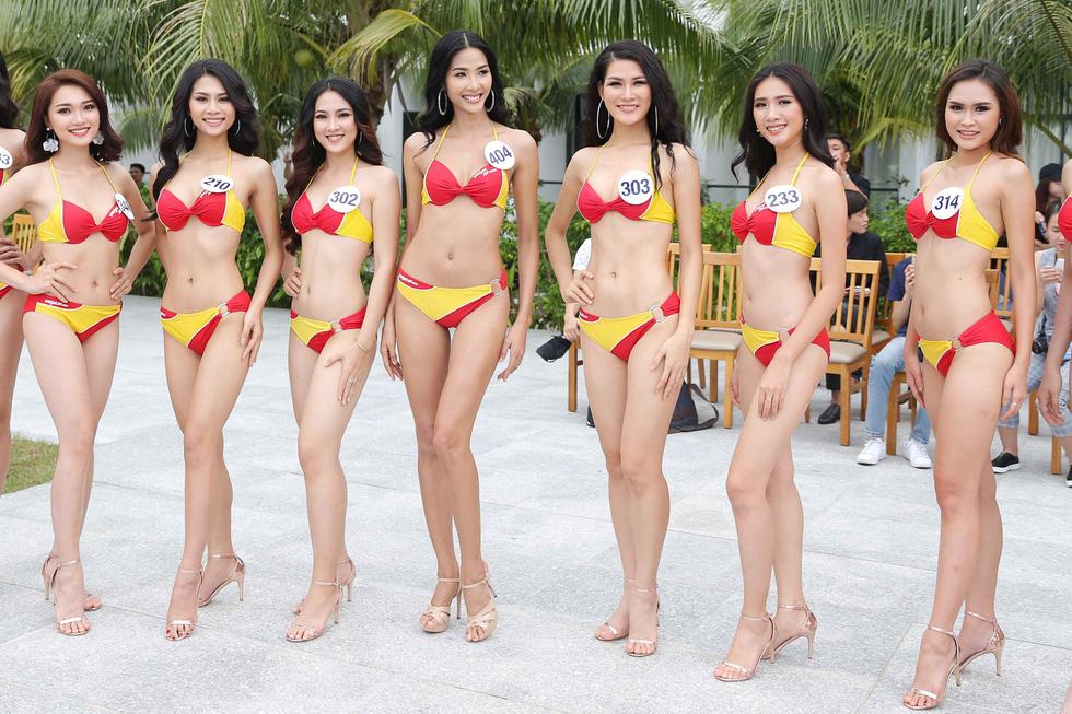 Thí sinh Hoa hậu Hoàn vũ VN trình diễn bikini nóng bỏng - Ảnh 10.
