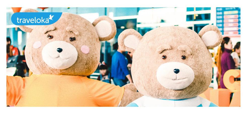 Gia đình gấu mập dễ thương làm xôn xao sân bay Đà Nẵng - Ảnh 3.