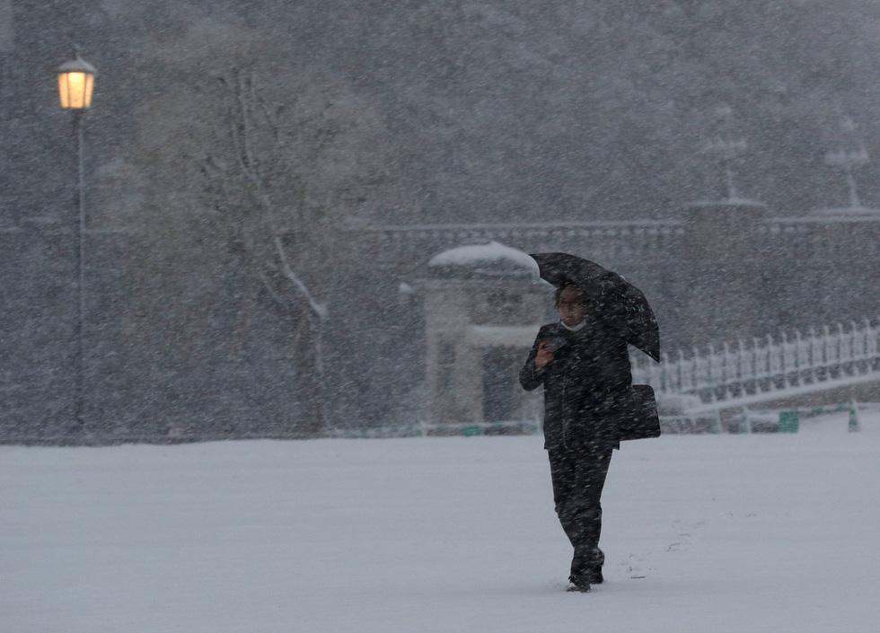 Bão tuyết, núi lửa cùng tấn công nước Nhật trong một ngày - Ảnh 3.