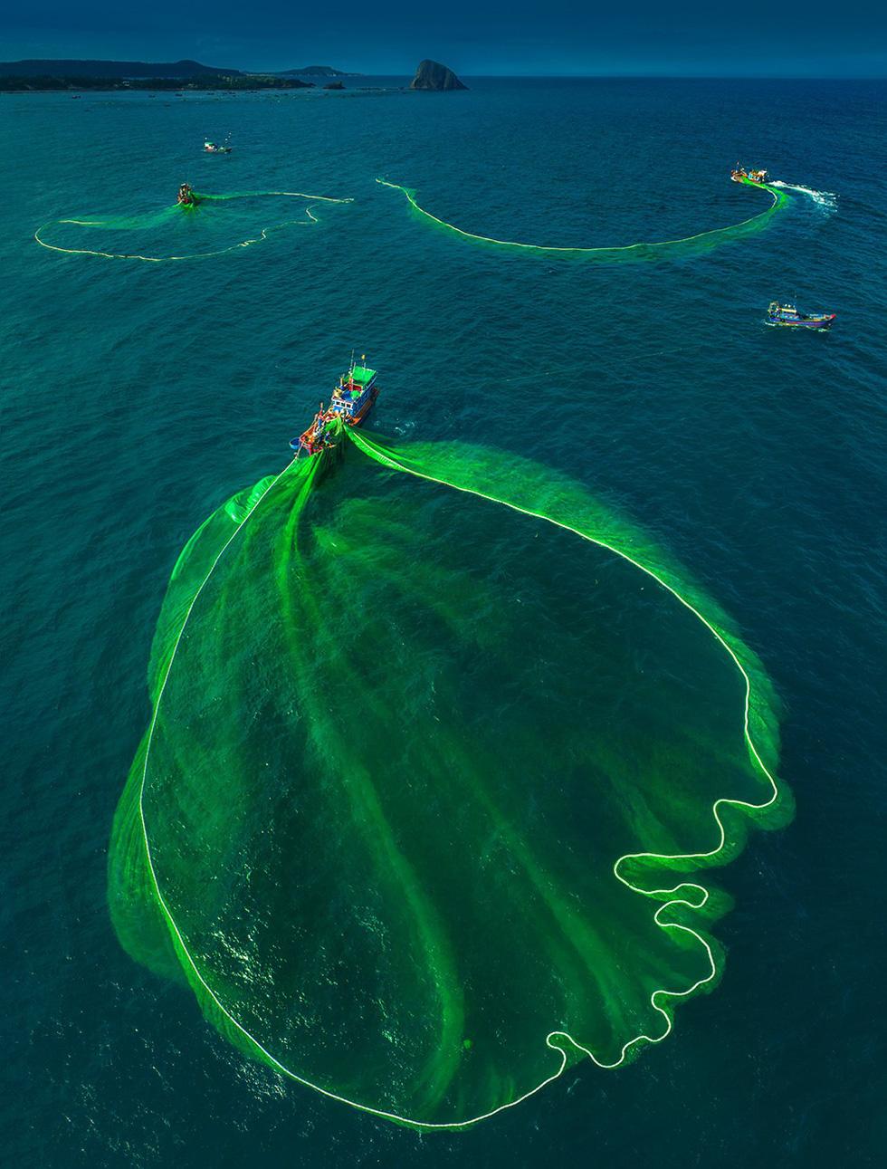 Vũ điệu ra khơi ở Hòn Yến mùa săn cá cơm ngần - Ảnh 2.