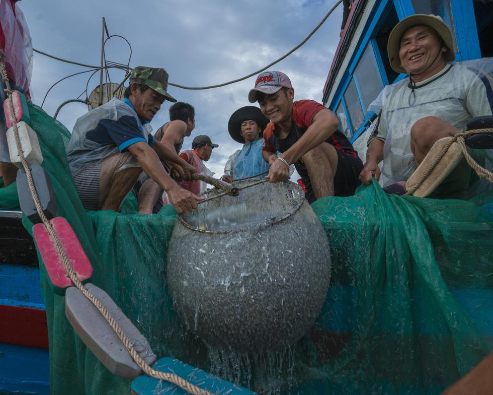 Vũ điệu ra khơi ở Hòn Yến mùa săn cá cơm ngần - Ảnh 9.