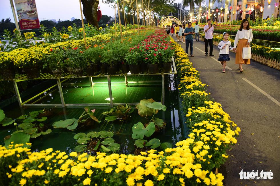 Đàn heo vàng xuất hiện tại hội chợ hoa xuân Phú Mỹ Hưng - Ảnh 3.
