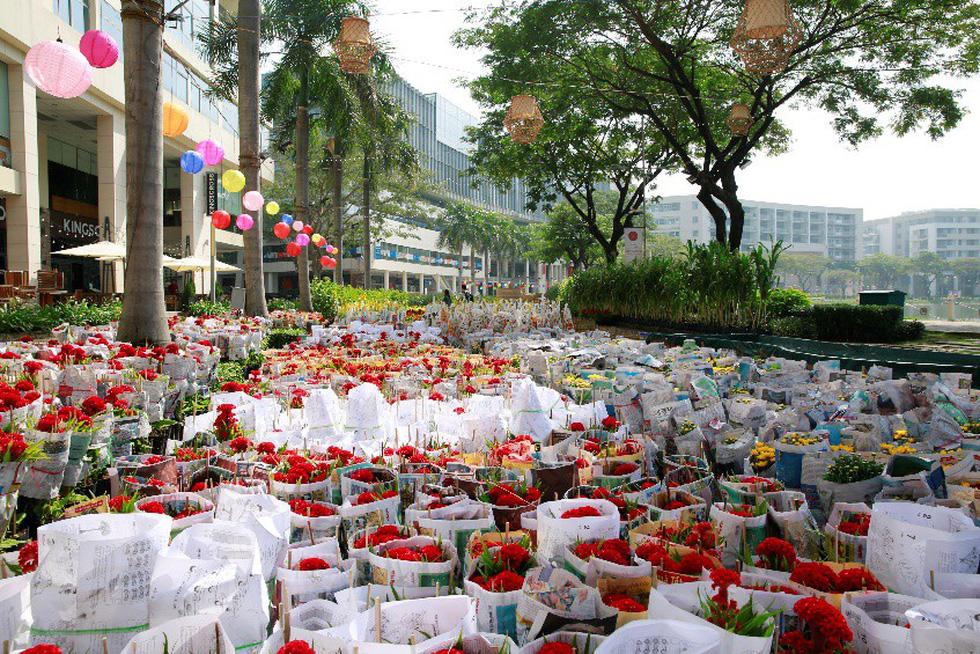 Háo hức khai mạc Hội chợ hoa xuân Phú Mỹ Hưng - Ảnh 1.