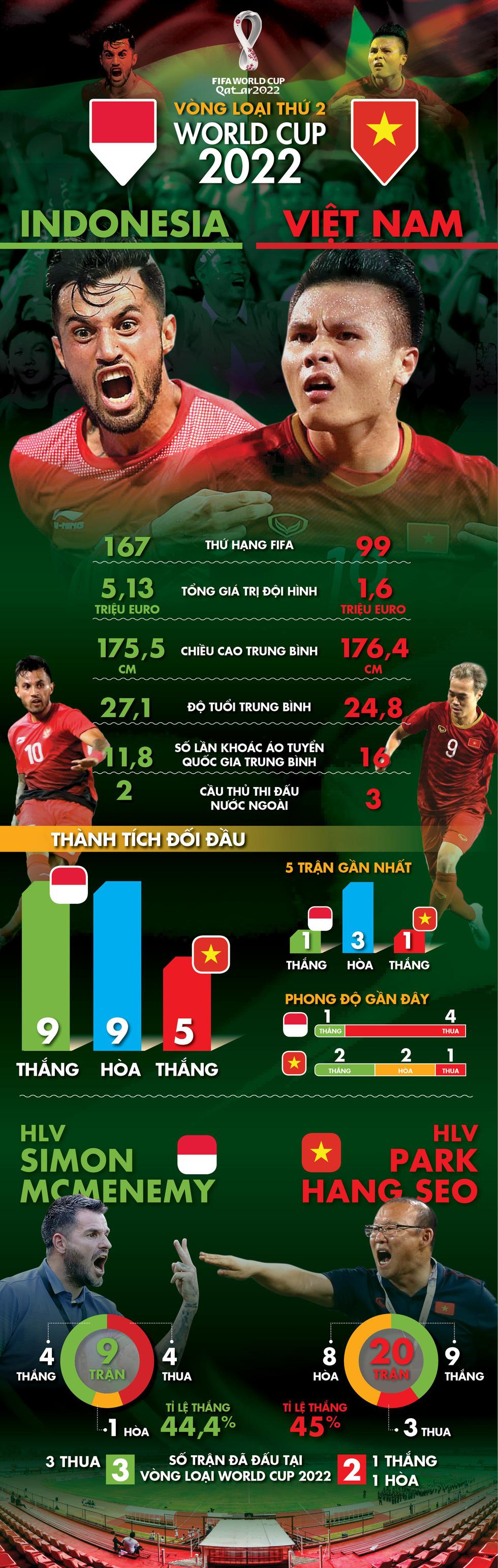 Infographic so sánh sức mạnh giữa Việt Nam và Indonesia - Ảnh 1.