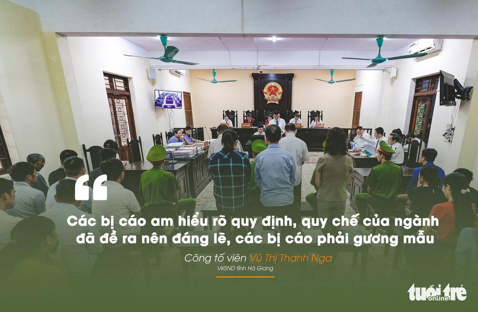 Những câu nói nổi bật trong xét xử vụ án nâng điểm thi Hà Giang - Ảnh 1.