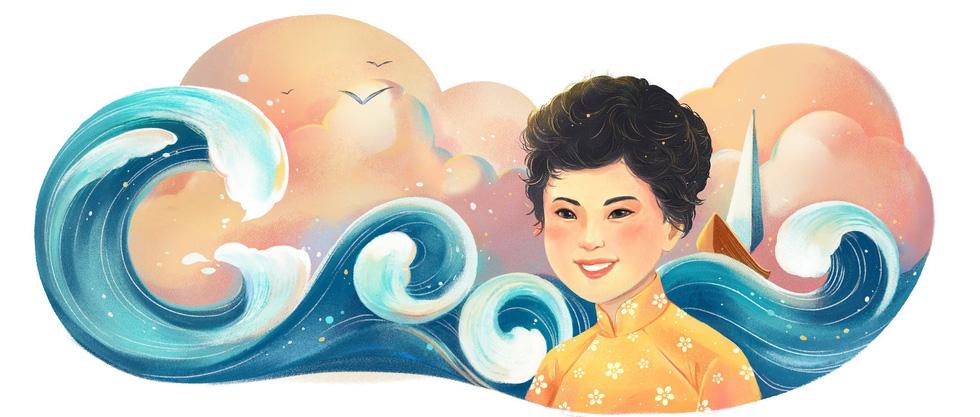 Xuân Quỳnh trở thành nữ văn sĩ đầu tiên của Việt Nam được Google vinh danh - Ảnh 1.