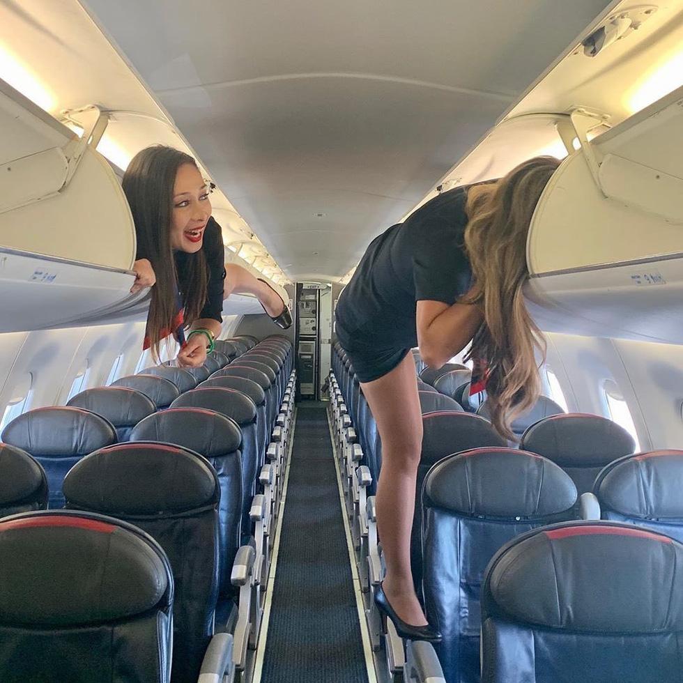 Các nữ tiếp viên xinh đẹp làm gì khi máy bay ế khách? - Ảnh 5.