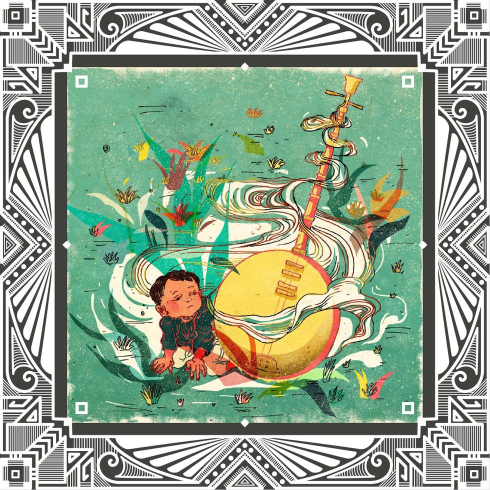 Trăm năm Dạ cổ hoài lang, ngắm bộ tranh về cuộc đời của Cao Văn Lầu - Ảnh 2.