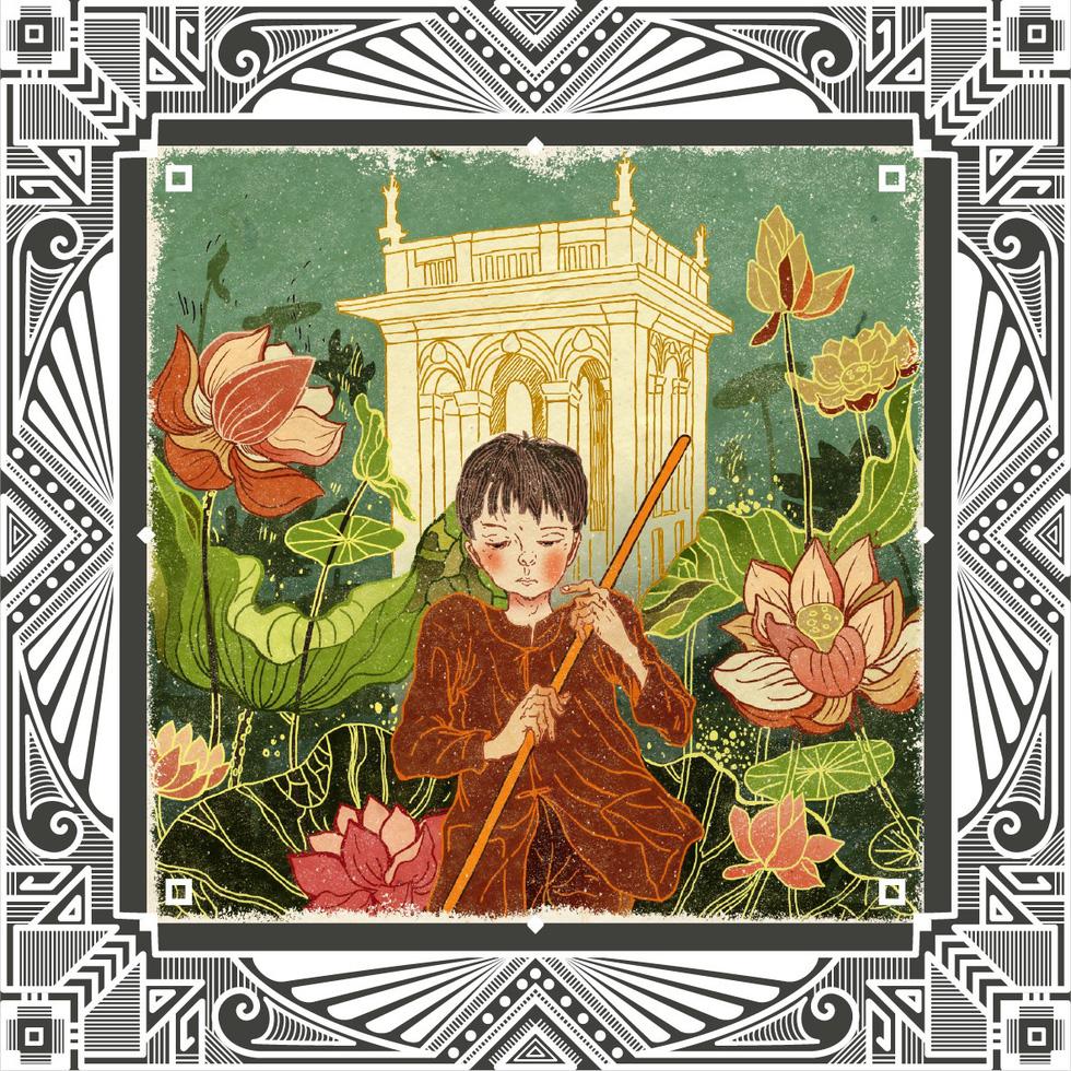 Trăm năm Dạ cổ hoài lang, ngắm bộ tranh về cuộc đời của Cao Văn Lầu - Ảnh 3.