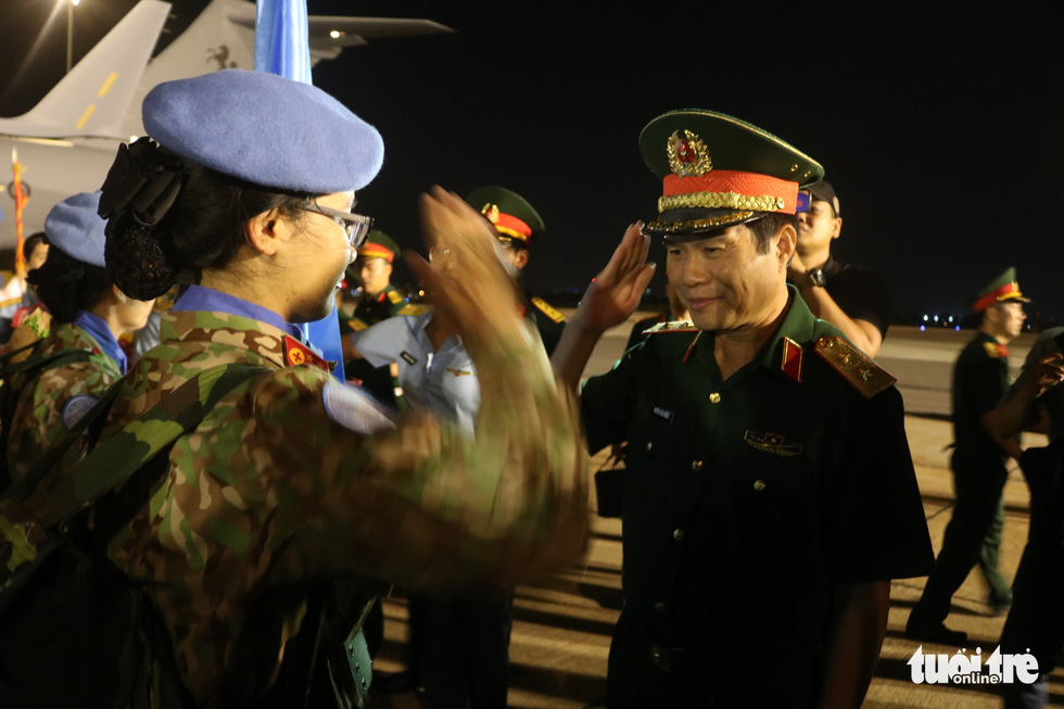 31 cán bộ gìn giữ hòa bình từ Nam Sudan về nước - Ảnh 6.
