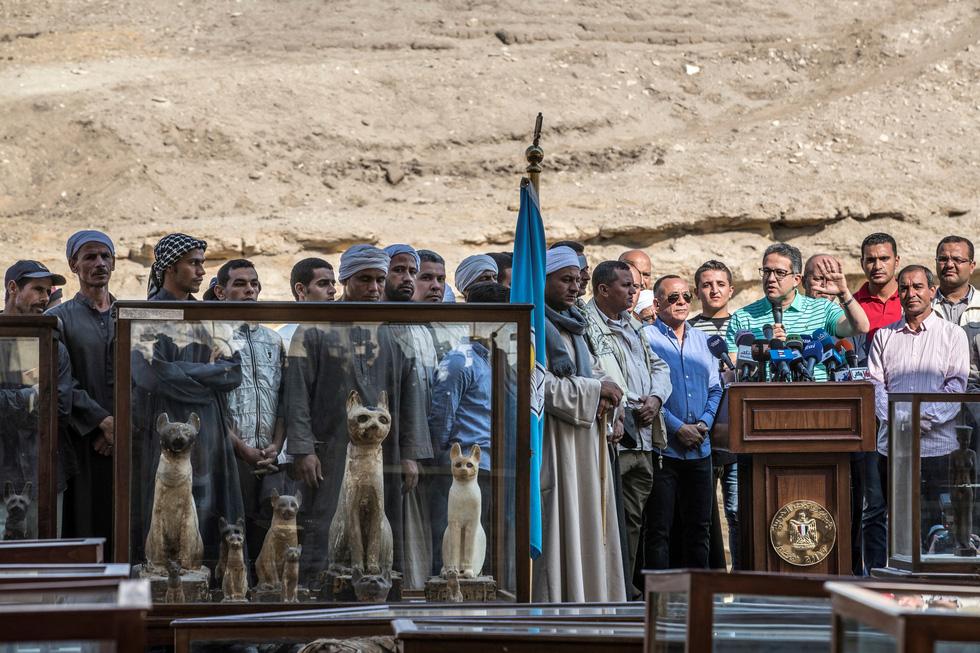 Ai Cập công bố 5 xác ướp sư tử con tìm thấy gần kim tự tháp Giza - Ảnh 4.