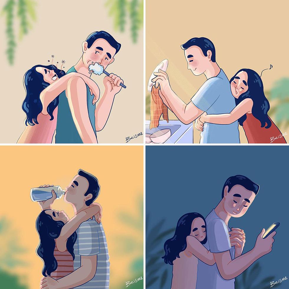 Nữ họa sĩ Việt kể chuyện tình yêu bằng tranh vẽ - Ảnh 4.